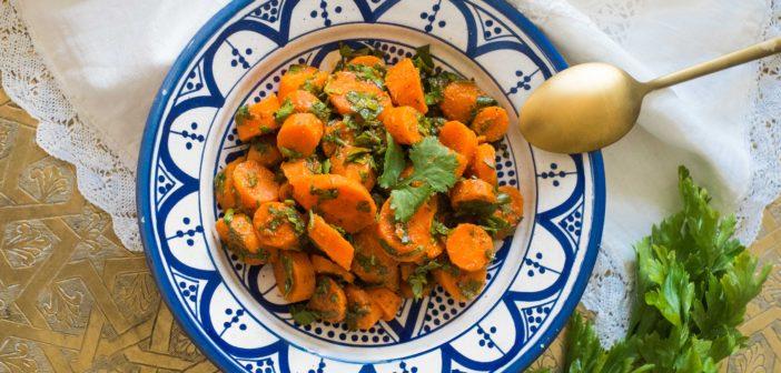 Khizou Mchermel, salade de carottes marocaine