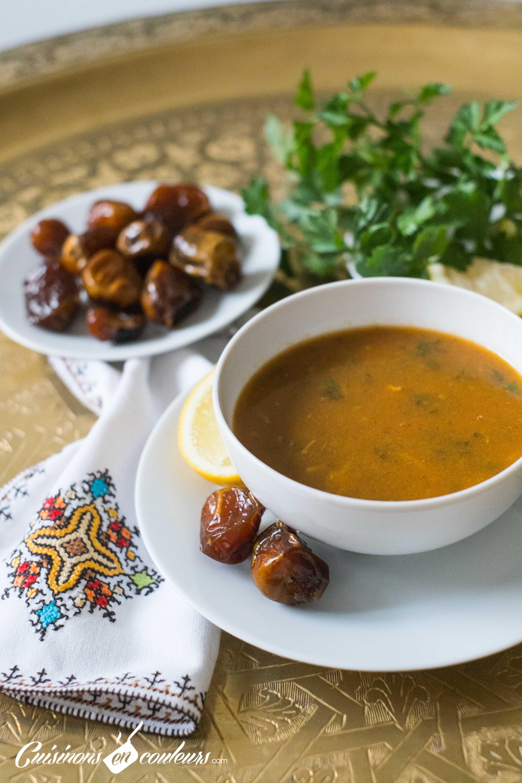 Harira La Recette Express Cuisinons En Couleurs