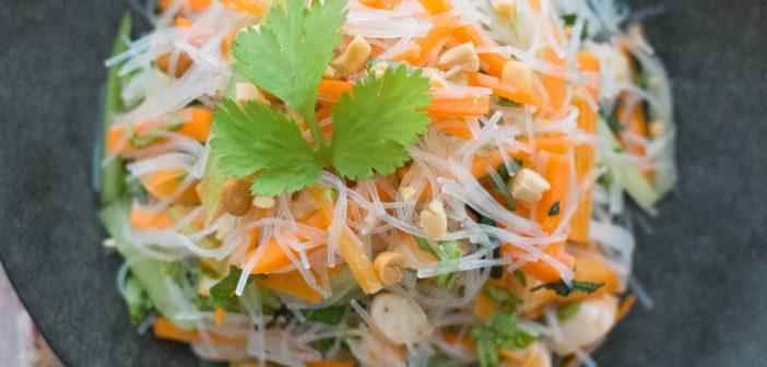 Salade de crevettes et vermicelles