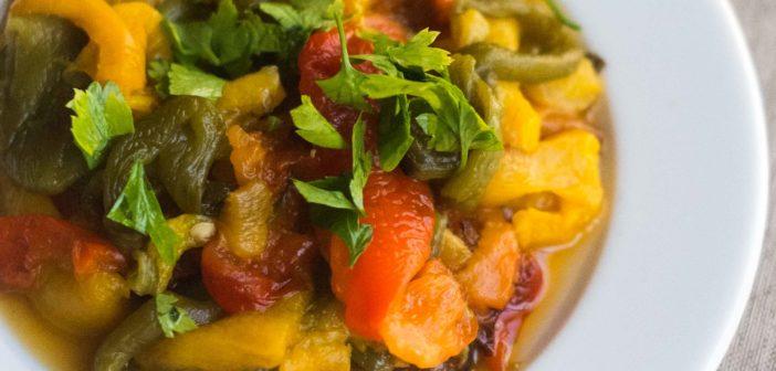Salade de poivrons à l'ail et au cumin