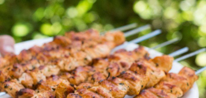 Brochettes de poulet au paprika