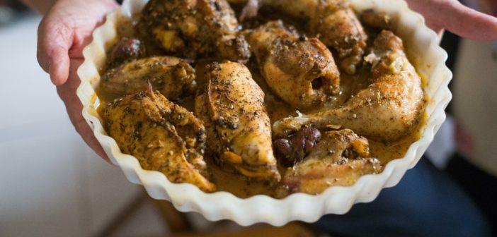 Morceaux de poulet aux épices au four