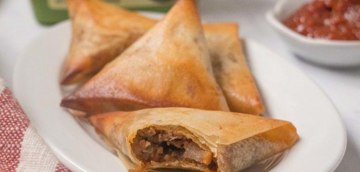 Briouates à la viande hachée et à la sauce Ssamjang