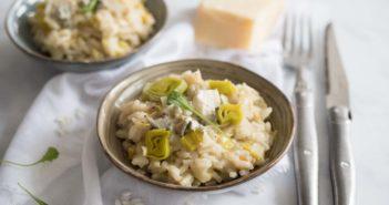 Risotto aux poireaux et au gorgonzola