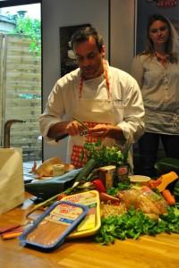 DSC_0012-200x300 - Salade printanière aux tendres filets mignon de dinde panés entre Asie et Méditerranée