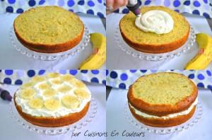 montage-300x198 - Gâteau à la banane comme un Layer Cake