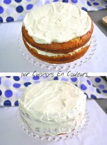 montage1-222x300 - Gâteau à la banane comme un Layer Cake