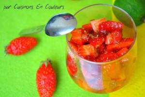 DSC_0120-300x200 - Salade de fraises marinées au citron vert et à l'orange