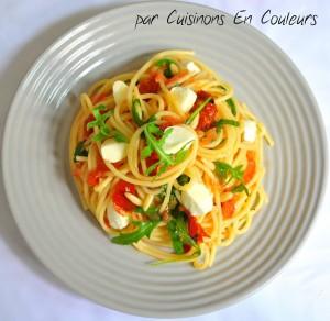 DSC_0339-300x292 - Spaghetti à la roquette et aux tomates séchées