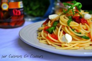 DSC_0347-300x200 - Spaghetti à la roquette et aux tomates séchées