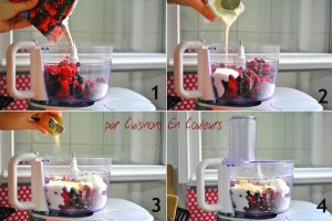 etapes_-300x200 - Glace aux Fruits Rouges et éclats de chocolat blanc... et SANS sorbetière!