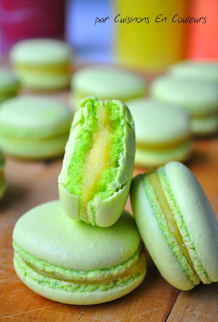 DSC_0865 - Macarons au citron jaune et citron vert : recette avec la meringue italienne