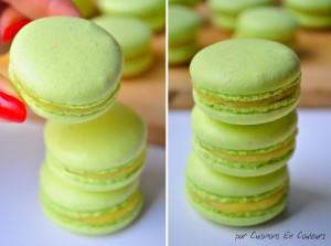 macarons-300x223 - Macarons au citron jaune et citron vert : recette avec la meringue italienne