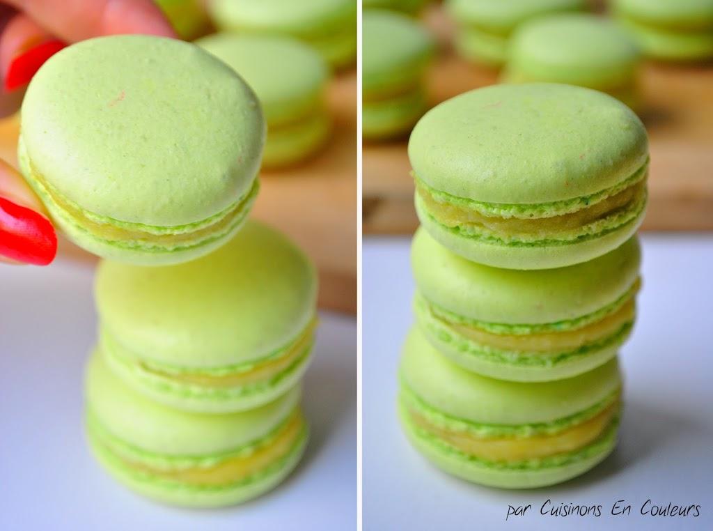 macarons - Macarons au citron jaune et citron vert : recette avec la meringue italienne