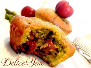Muffins-pistache-cerise2-300x225 - Vos participations au concours Cuisinons En Couleurs (la suite)