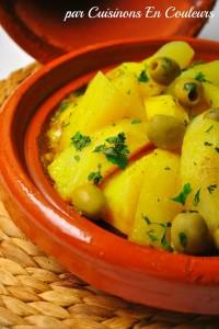 DSC_0669-200x300 - Tajine de veau aux pommes de terre et aux olives vertes