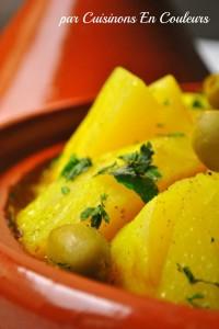 DSC_0674-200x300 - Tajine de veau aux pommes de terre et aux olives vertes
