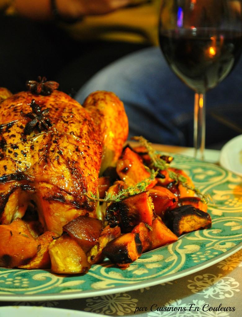 poulet-aux-epices-de-noel-1-780x1024 - Poulet aux épices de Noël, à l'orange et ses légumes oubliés