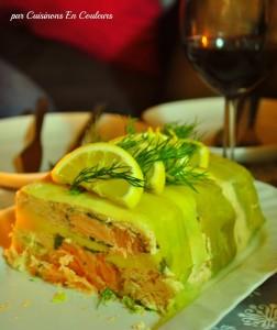 terrine-saumon-252x300 - Terrine de saumon à la mangue et au gingembre
