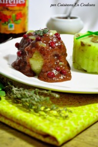 DSC_0661-200x300 - Paupiette de dinde, sauce aux airelles et son écrasé de pommes de terre aux éclats de girolles