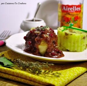 paupiette-dinde-airelles1-300x297 - Paupiette de dinde, sauce aux airelles et son écrasé de pommes de terre aux éclats de girolles
