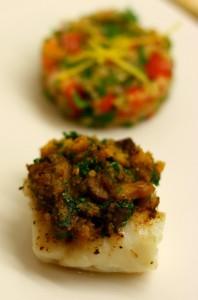 IMG_3360-198x300 - Cabillaud en croûte de champignons aux marrons