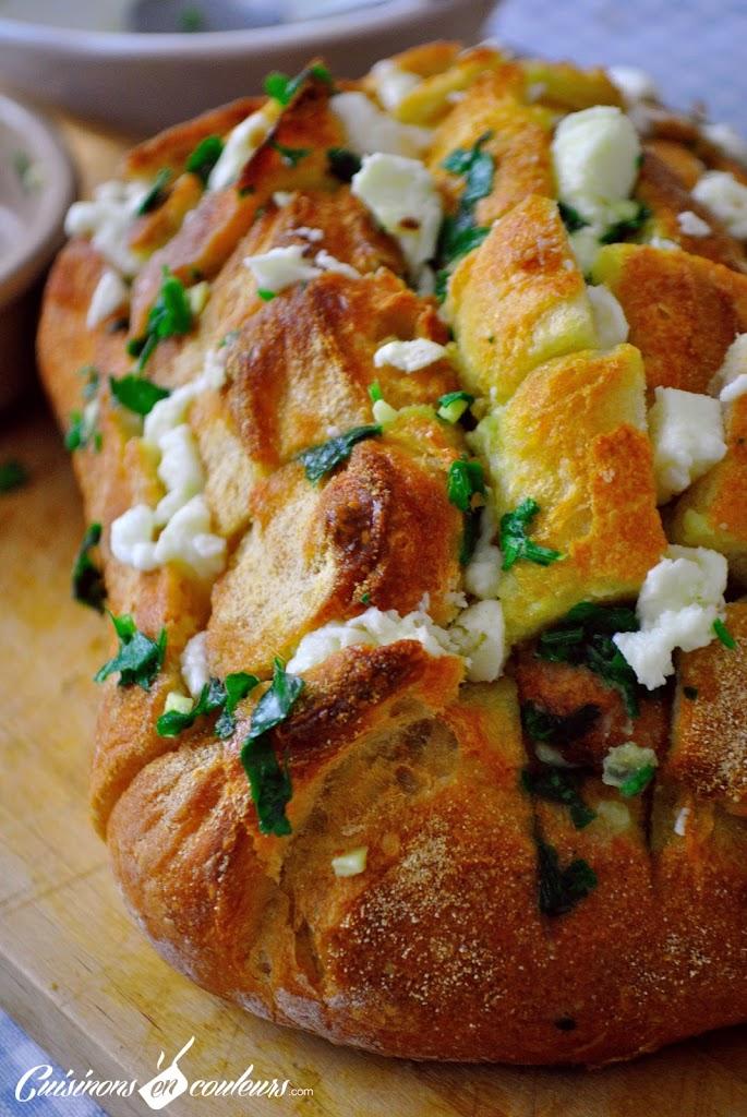 DSC_0015 - Cheese & garlic bread : un pain fourré au fromage et à l'ail!