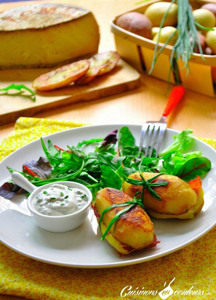 pomme-de-terre-1 - Pommes de terre farcies à la Tomme de Savoie et à la viande de grison