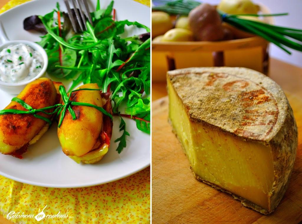 pomme-de-terre - Pommes de terre farcies à la Tomme de Savoie et à la viande de grison