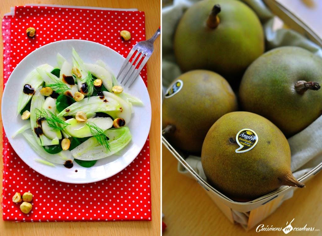 salade-de-fenouil - Salade de fenouil, poire et noisettes