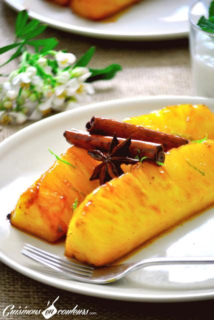 DSC_0313-1 - Ananas épicé et fromage blanc à la cannelle