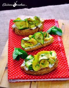tartine-courgette-236x300 - Tartines de courgettes au chèvre frais et à la menthe