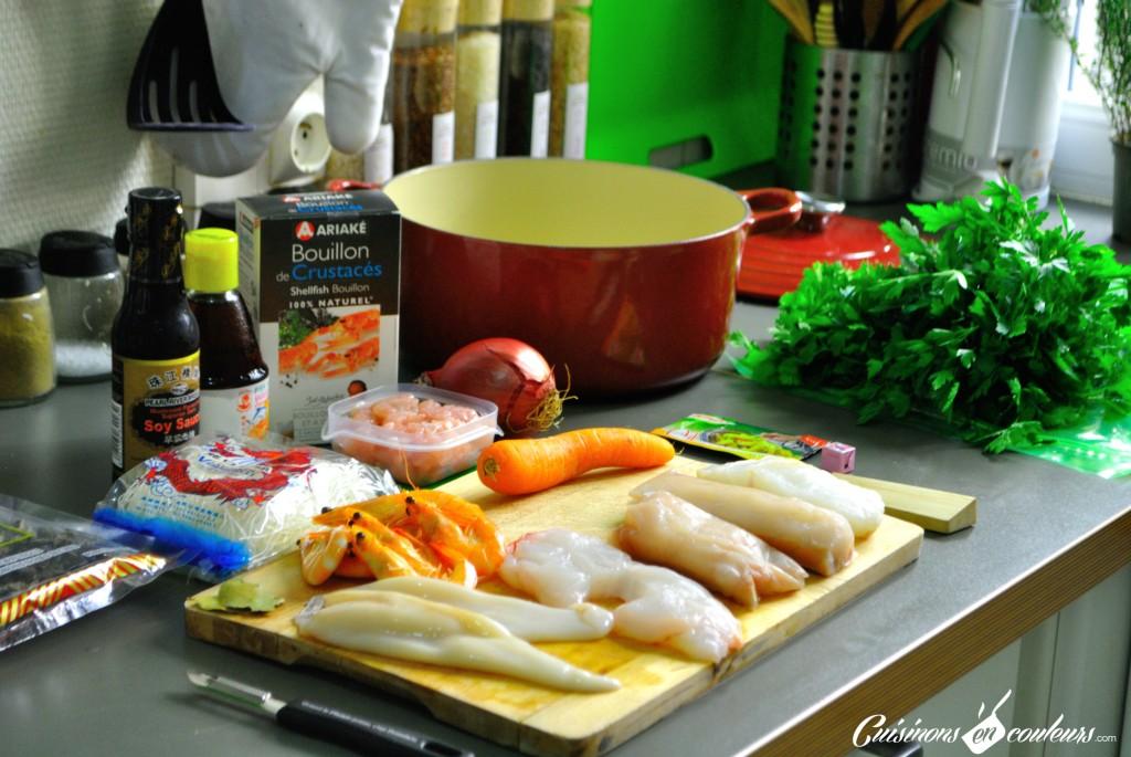 DSC_0020-1-1024x685 - Soupe Chinoise : Poissons, Crevettes, Vermicelles et plein de bonnes choses...