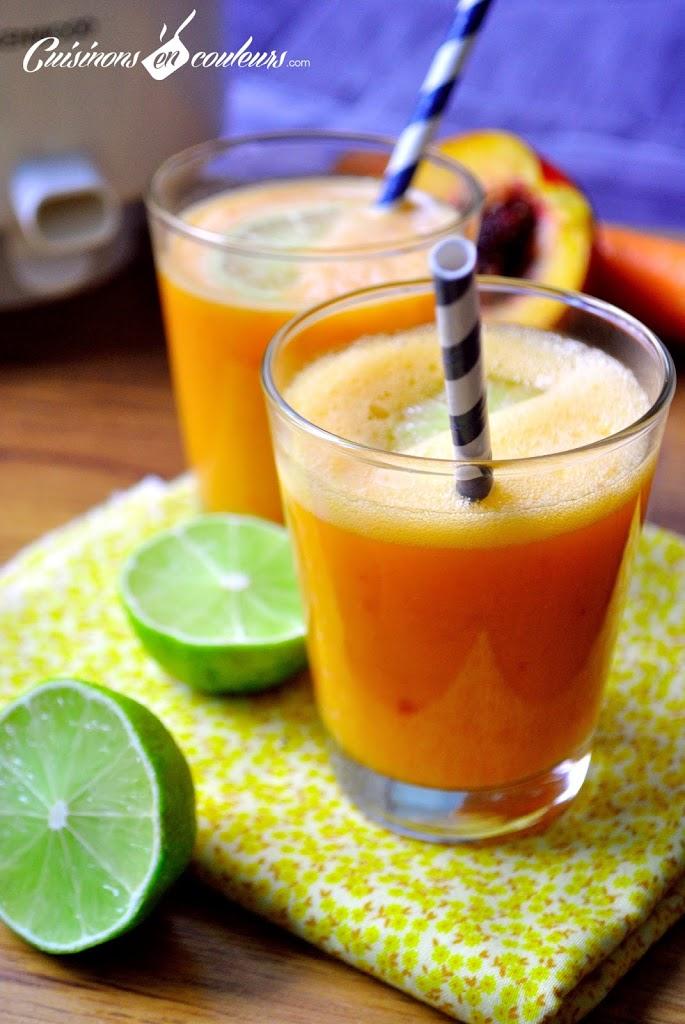 DSC_0032 - Carottes, citrons verts, pommes et nectarines : le jus de fruits qui vous donne la pêche!