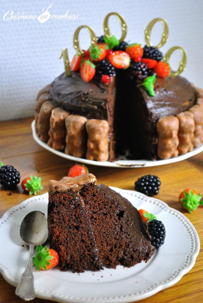 gâteau-chocolat-685x1024 - 10 000 abonnés et un Layer Cake au chocolat et aux fruits rouges pour fêter ça !