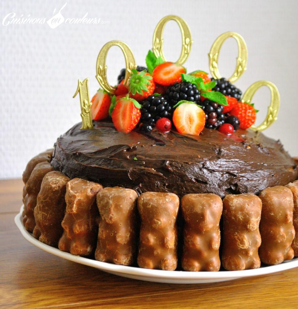 layer-cake-chocolat-987x1024 - 10 000 abonnés et un Layer Cake au chocolat et aux fruits rouges pour fêter ça !