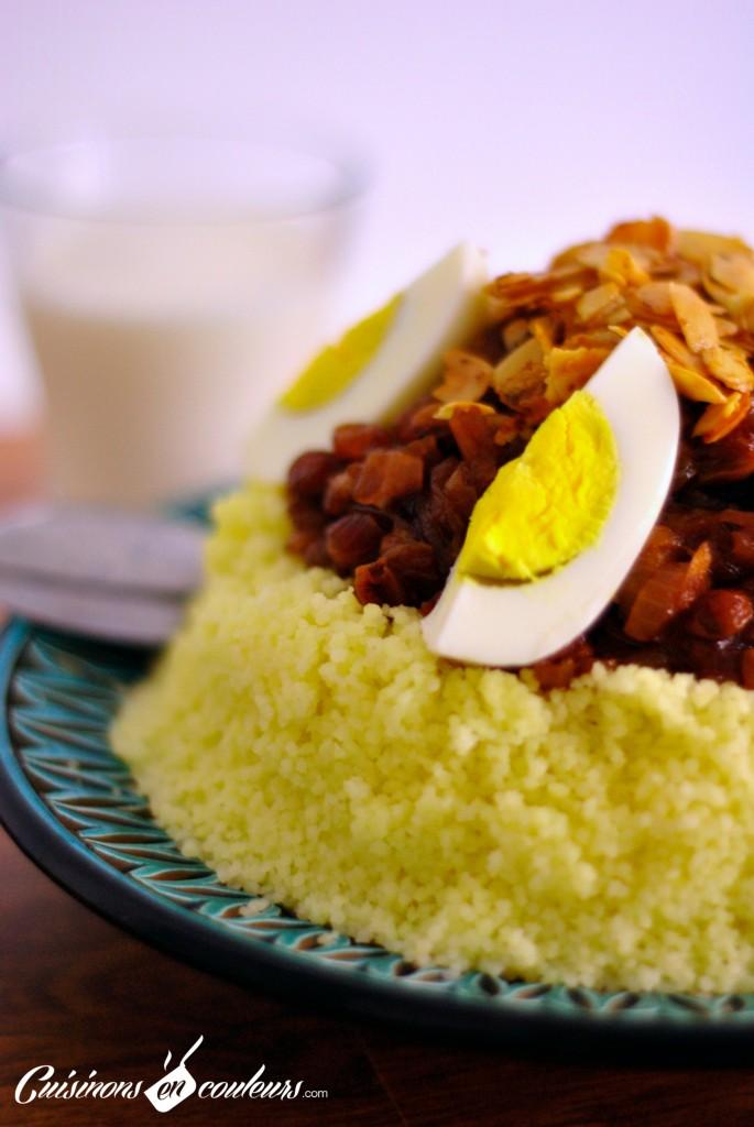 couscous-sucre-sale1-685x1024 - Couscous Tfaya, le couscous aux oignons et raisins secs  caramélisés