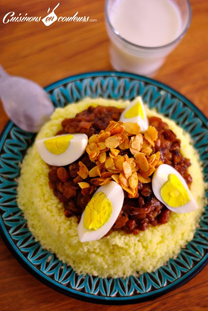 tfaya-couscous1-685x1024 - Couscous Tfaya, le couscous aux oignons et raisins secs  caramélisés