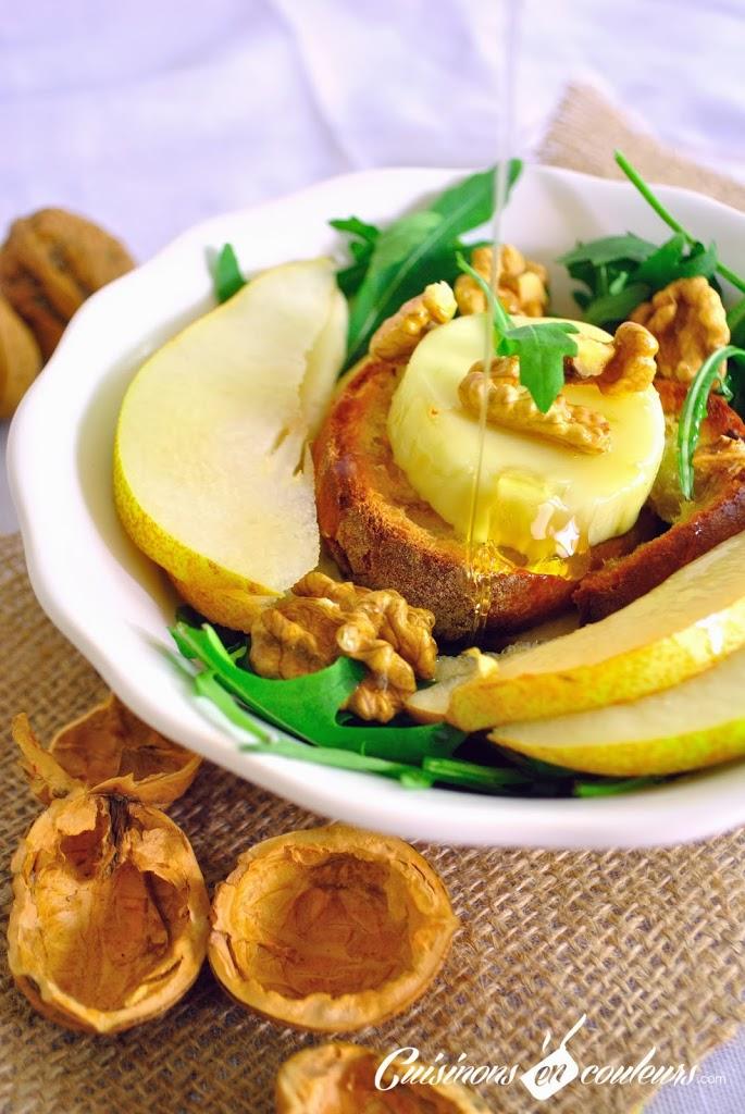 salade-d-hiver- - Salade d'hiver : Roquette, poire, noix et fromage de chèvre