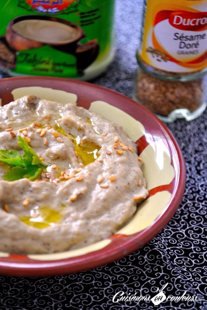 baba-ghanoush-moutabal - Baba Ganoush : une purée d'aubergines à la crème de sésame