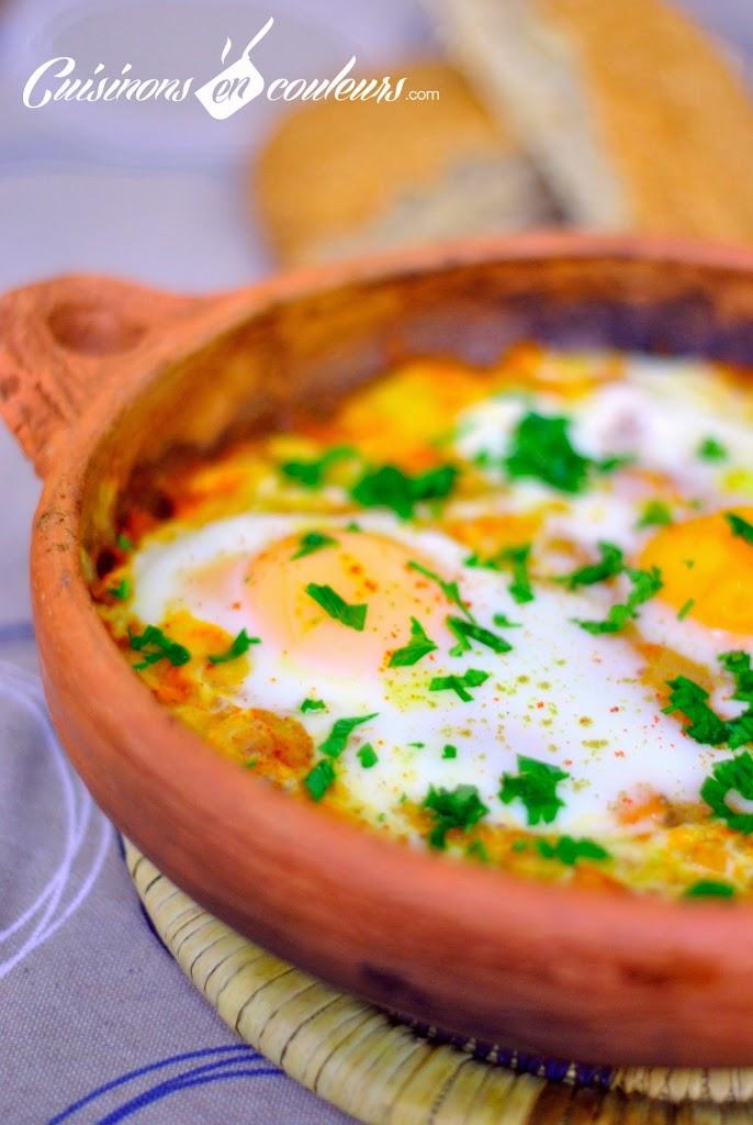 taine-bid-maticha - TBM, plus communément appelé Tajine Bid et Maticha (Tajine d'oeufs à la tomate)