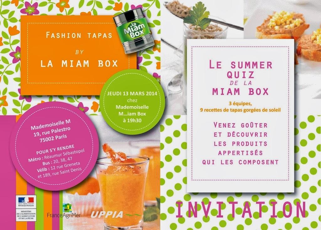 INVIT-MIAM-BOX-BLOGGEURS - Soirée Fashion tapas by Miam-Box, tu m'accompagnes?