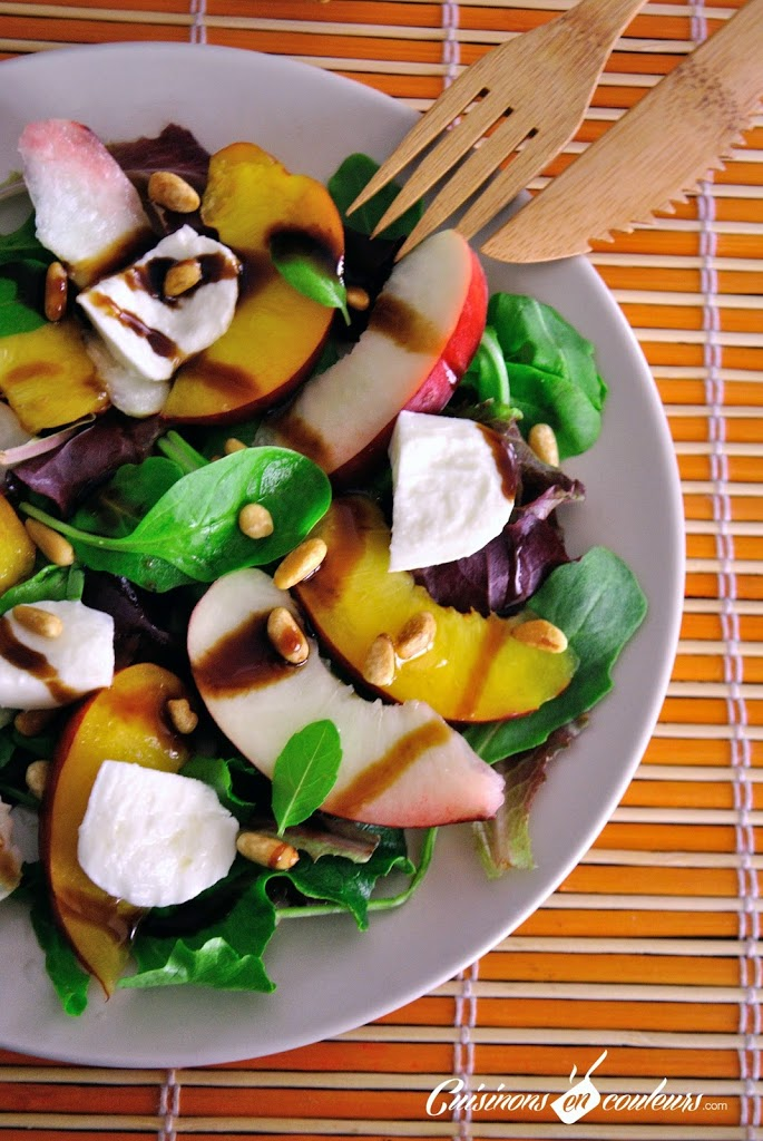 salade-de-nectarines-de-nos-re-CC-81gions - Salade estivale aux nectarines et à la mozzarella