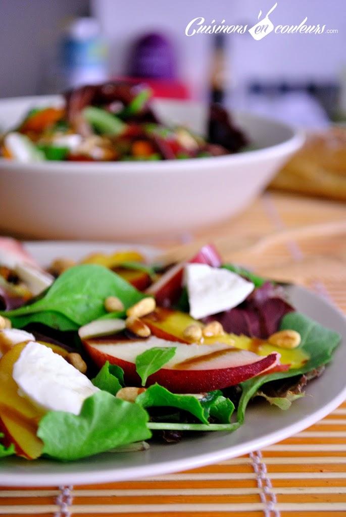 salade-nectarines-mozzarella - Salade estivale aux nectarines et à la mozzarella
