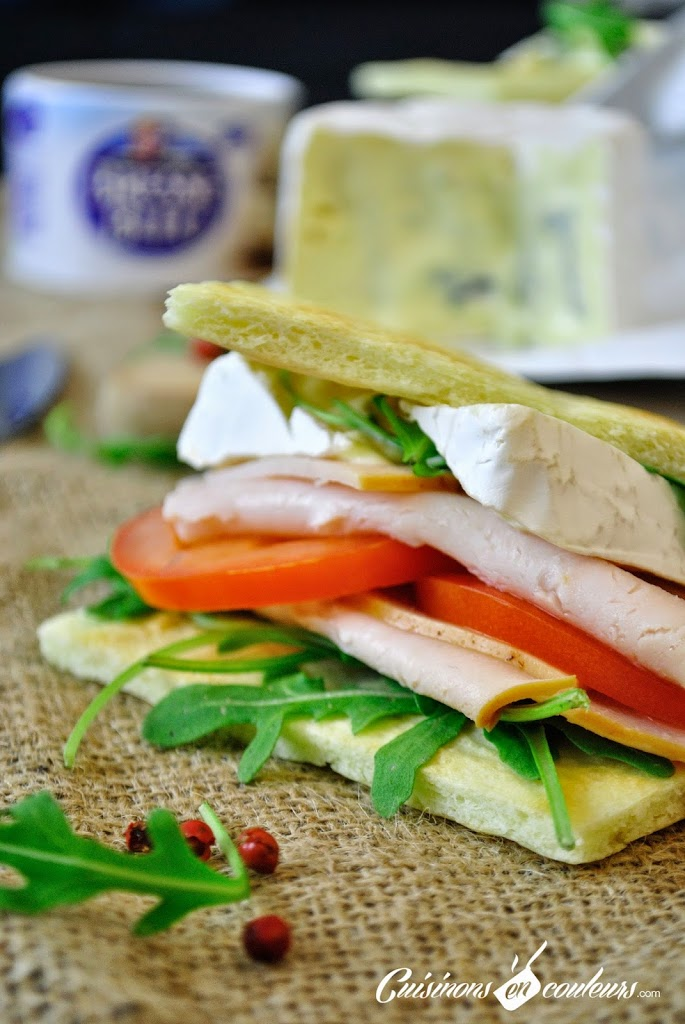 sandwich-BB - Sandwich à la pâte à pizza au Bresse Bleu