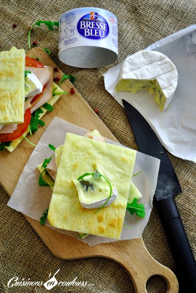 sandwich-bresse-bleu - Sandwich à la pâte à pizza au Bresse Bleu