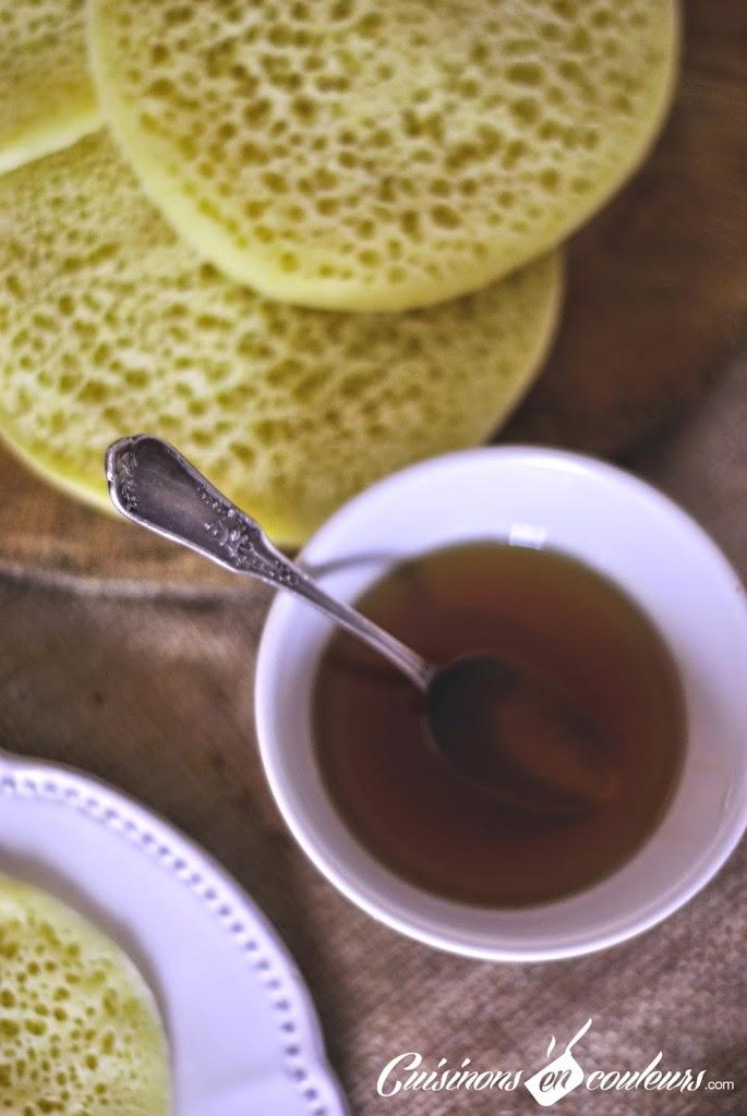 baghrir-au-miel - Beghrir au miel et à la fleur d'oranger