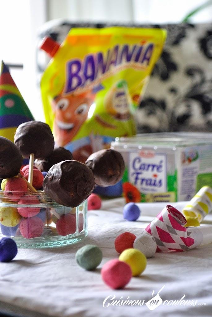 cakepops-2Bcarrefrais-2Bbanania - Cake pop's au Carré Frais et au chocolat en poudre Banania