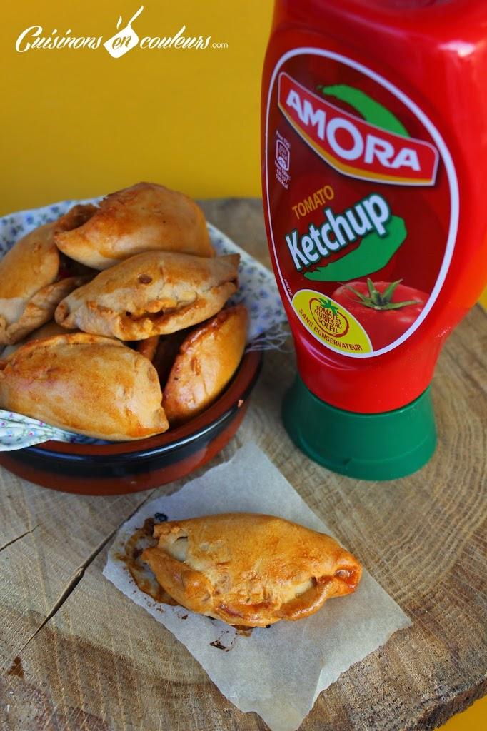 empanadas-2Bthon - Empanadas au thon, aux poivrons et au ketchup Amora