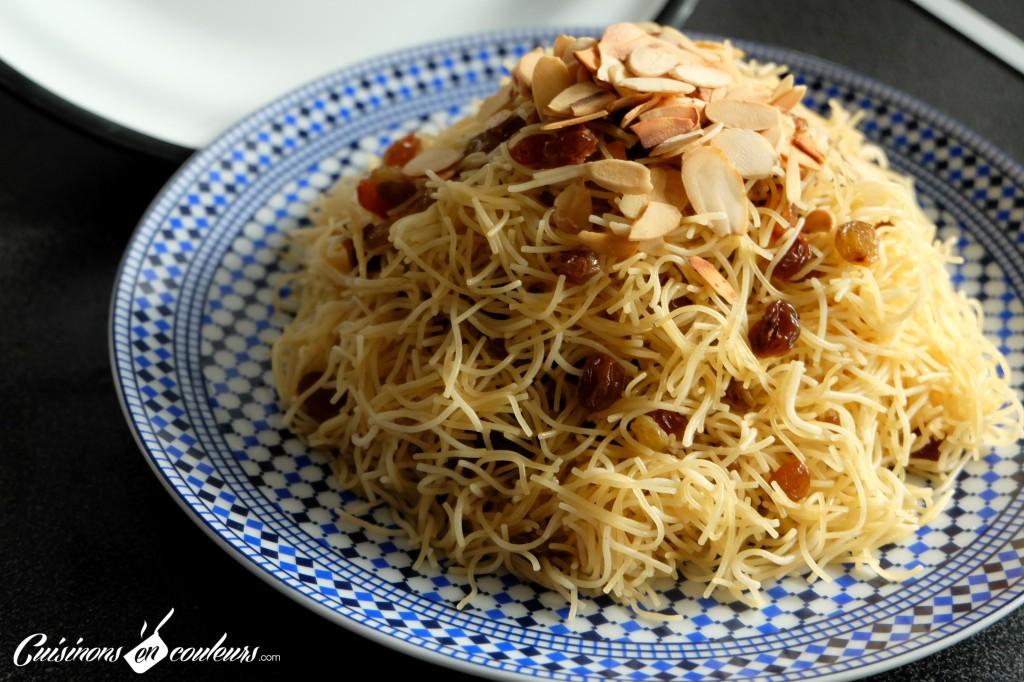 Seffa-recette-marocaine-1024x682 - Seffa, cheveux d'anges aux raisins secs et aux amandes